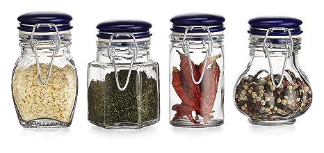 b781620c571d Amazon.com: HC Classic Home Quality Airtight Assorted Shape Glass ...