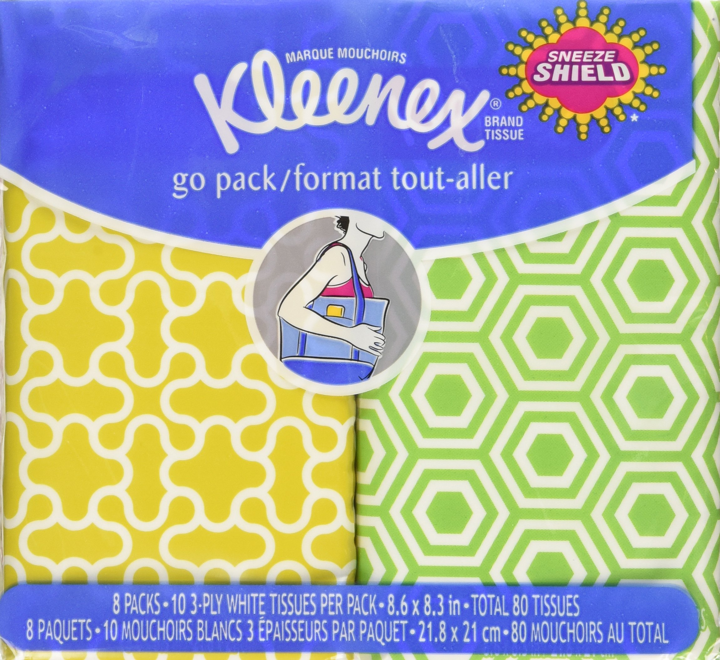 Kleenex 3-Ply Pocket Packs Facial Tissues (64 packs of 10 tissues) product