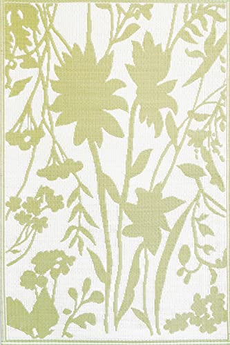 Mad Mats Bellingrath Outdoor Mats, 5 by 8-Feet, Ginko
