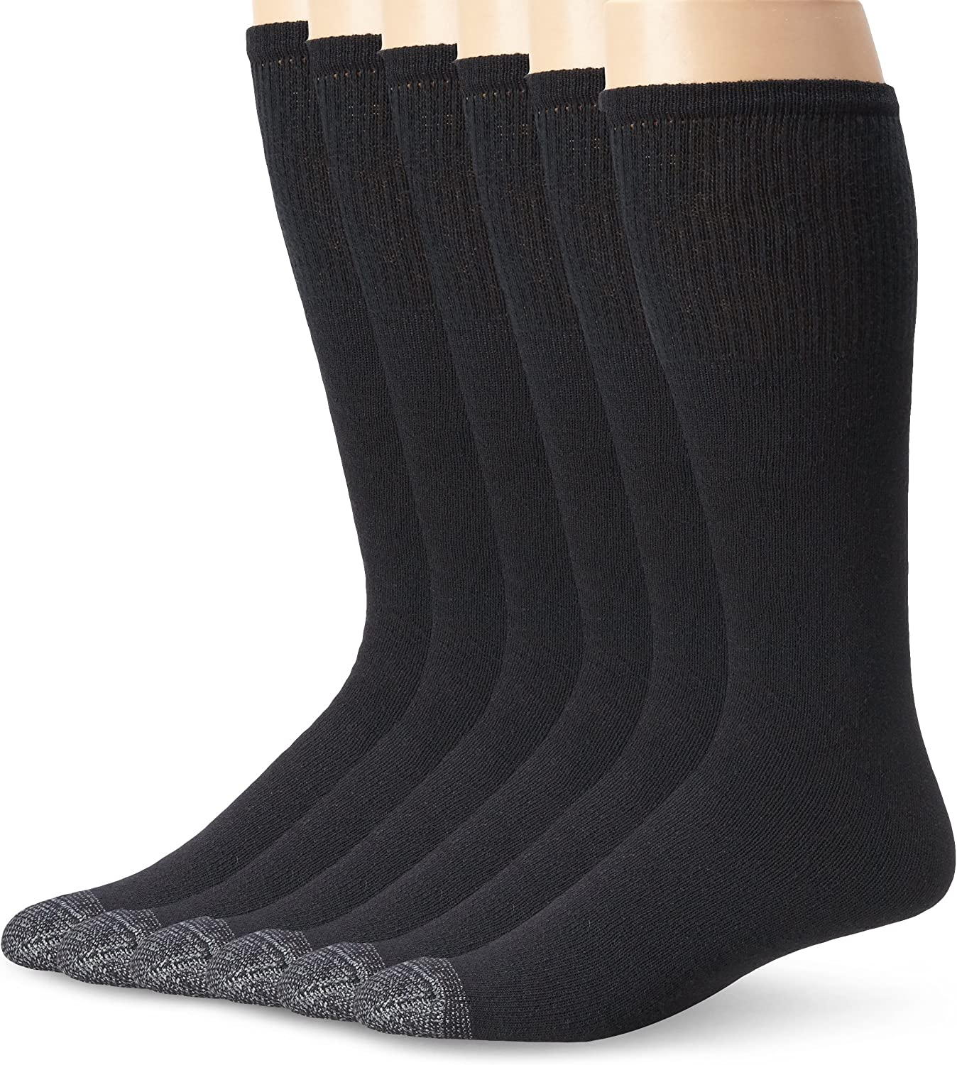 Fruit of the Loom Men's 6 Pack Over The Calf Tube Socks,