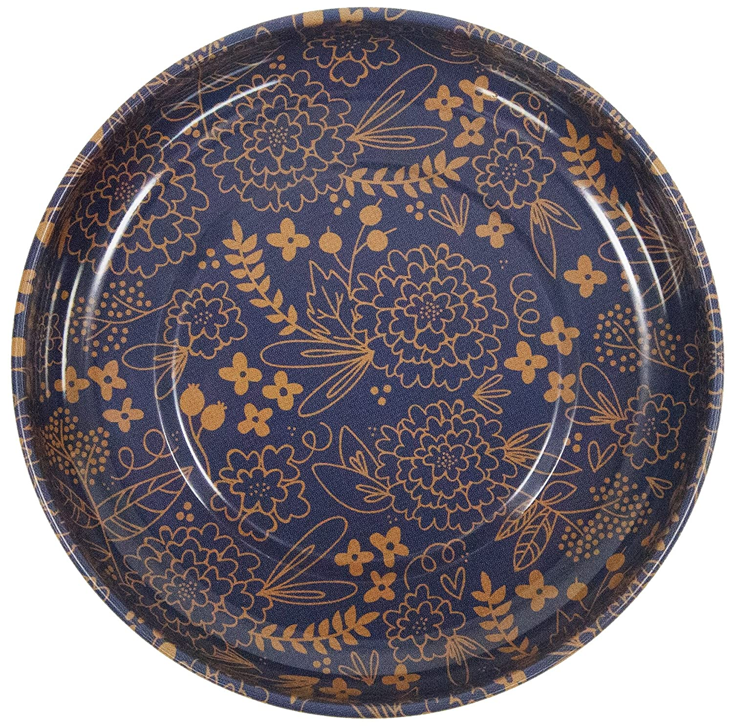 Pattern Designed by My Minds Eye STMB-9658 Sew Together Riley-Blake Designs Limited-Edition 4 Blue /& Gold Magnetic Pin Bowl
