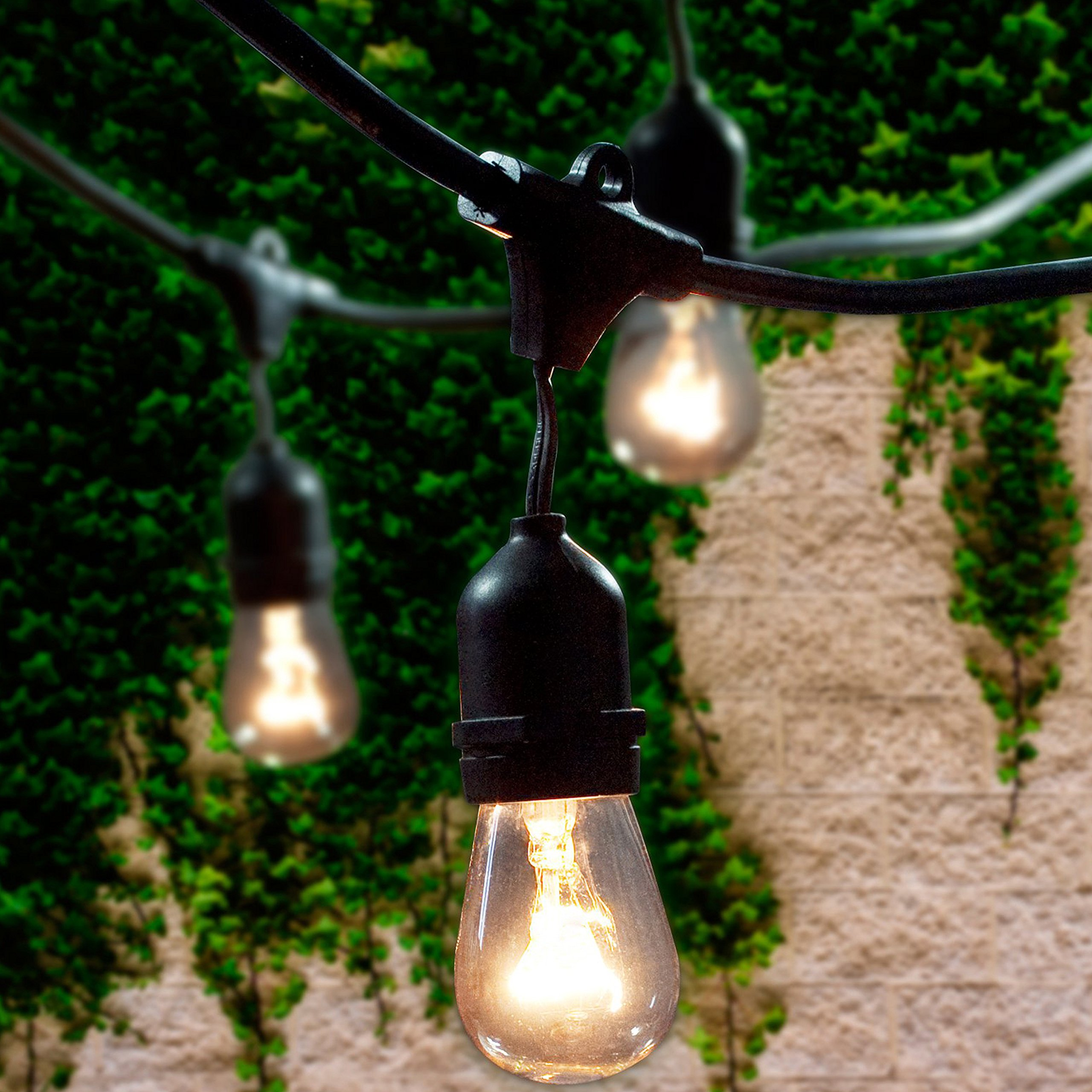 Lemontec Commercial Grade Outdoor String Lights With 15