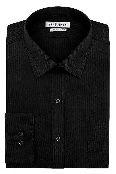 6b80d27c6ed Van Heusen Mens Dress Shirts Regular Fit Solid Pincord Spread Collar ...