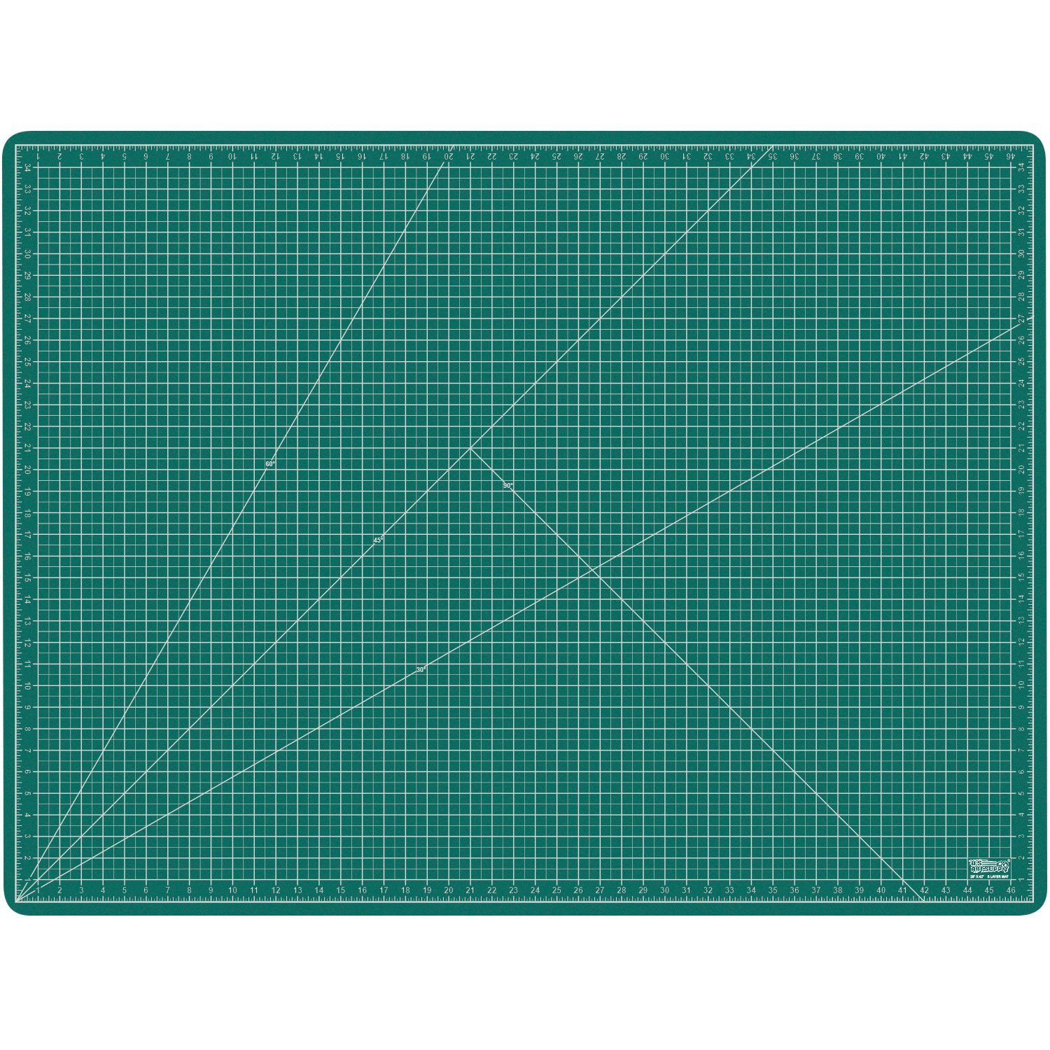 US Art Supply 36'' x 48'' GREEN/BLACK Professional Self Healing 5-Ply Double Sided Durable Non-Slip PVC Cutting Mat Scrapbooking, Quilting, SewingArts & Crafts