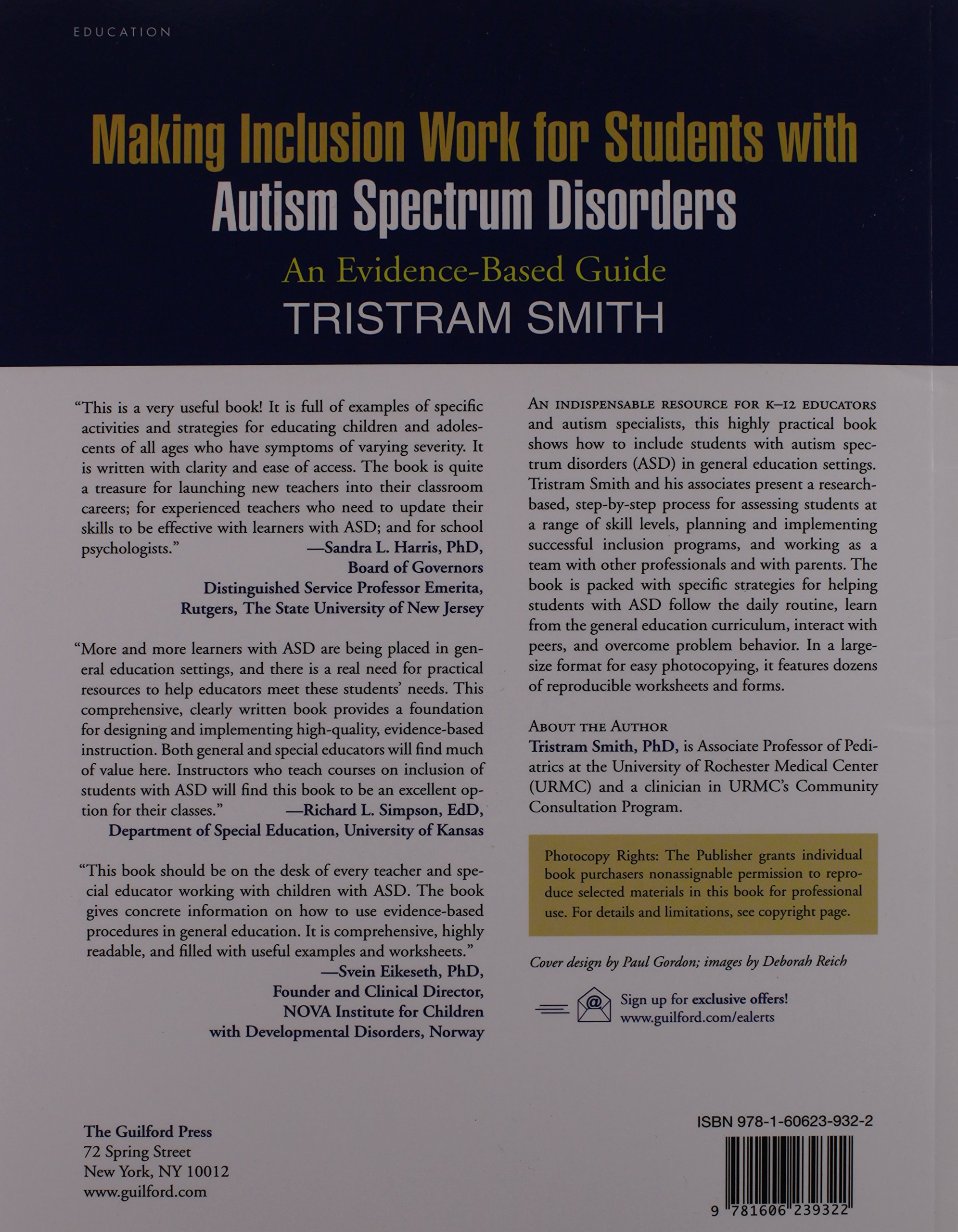 making inclusion work for students with autism spectrum disorders smith tristram