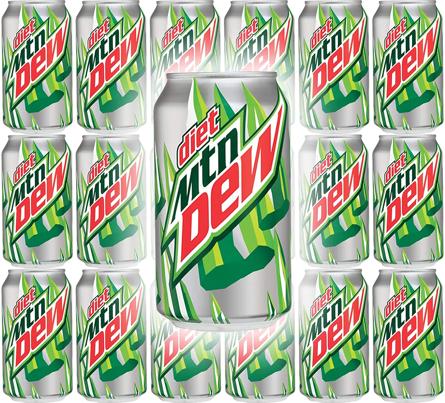 Diet Mountain Dew, 12oz Can (Pack of 18, Total of 216 Fl Oz)