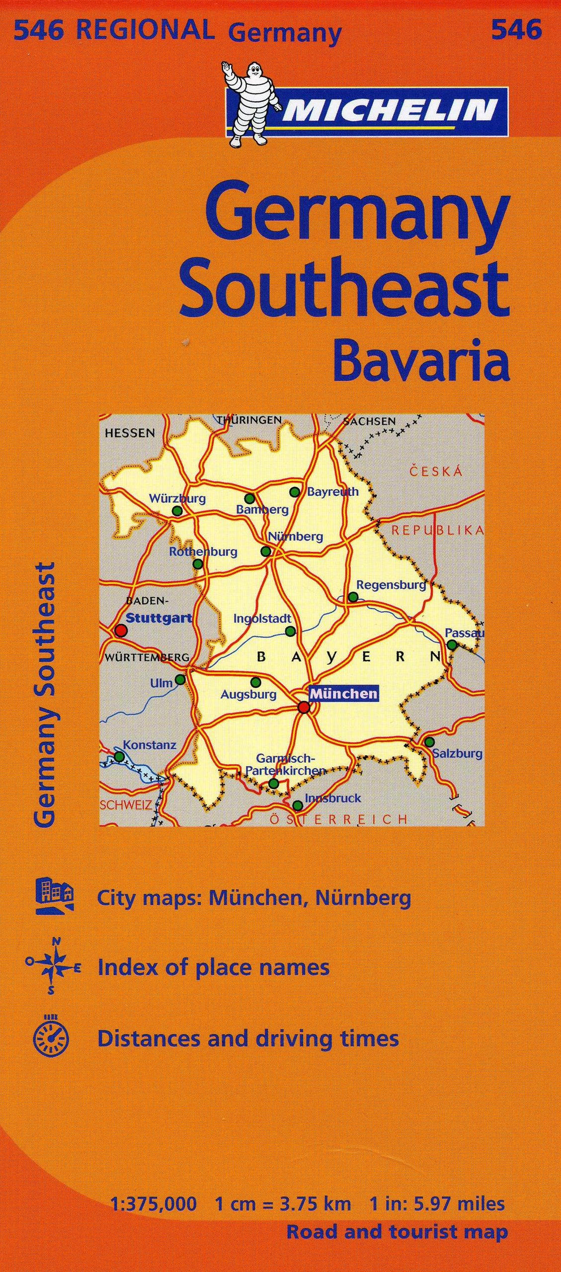 Michelin Germany Southeast Map 546 MapsRegional Michelin – Germany Map Distances