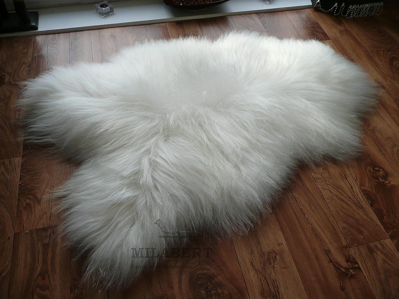 New Real Sheepskin Rug Genuine Icelandic  white cream Size 130-75 Cm
