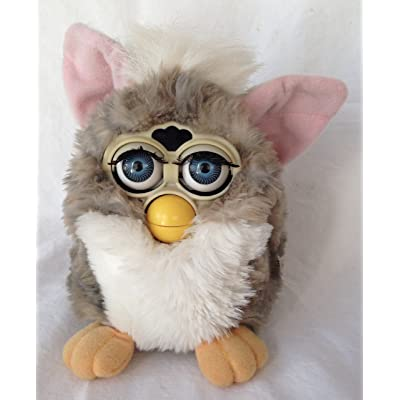 Tiger Furby Model 70-800 Gray Stripe White Belly Blue Eyes: Toys & Games