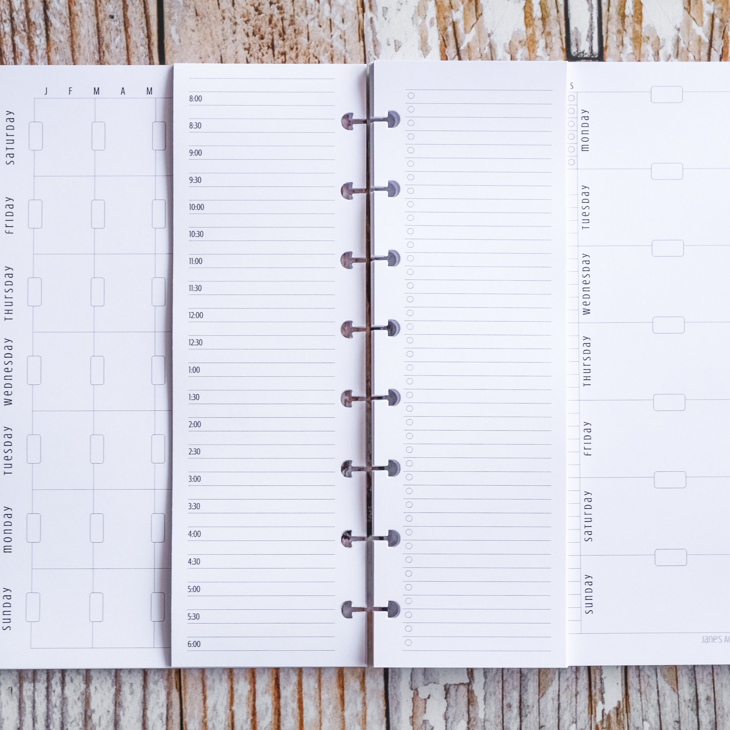 Planner Inserts for use with Disc-bound | The Awesome Planner Set | Junior Size