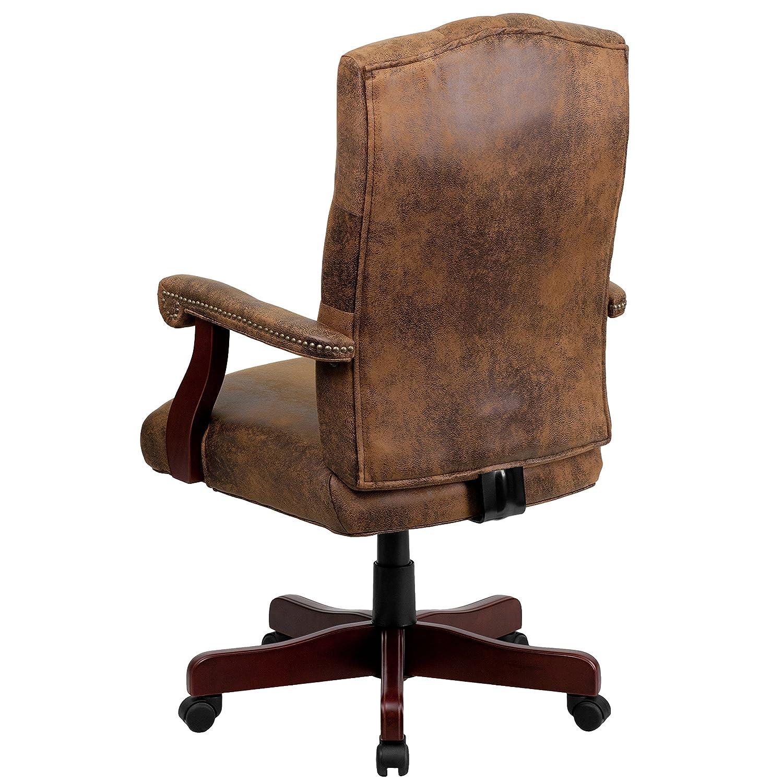 Amazon Flash Furniture Bomber Brown Classic Executive Swivel