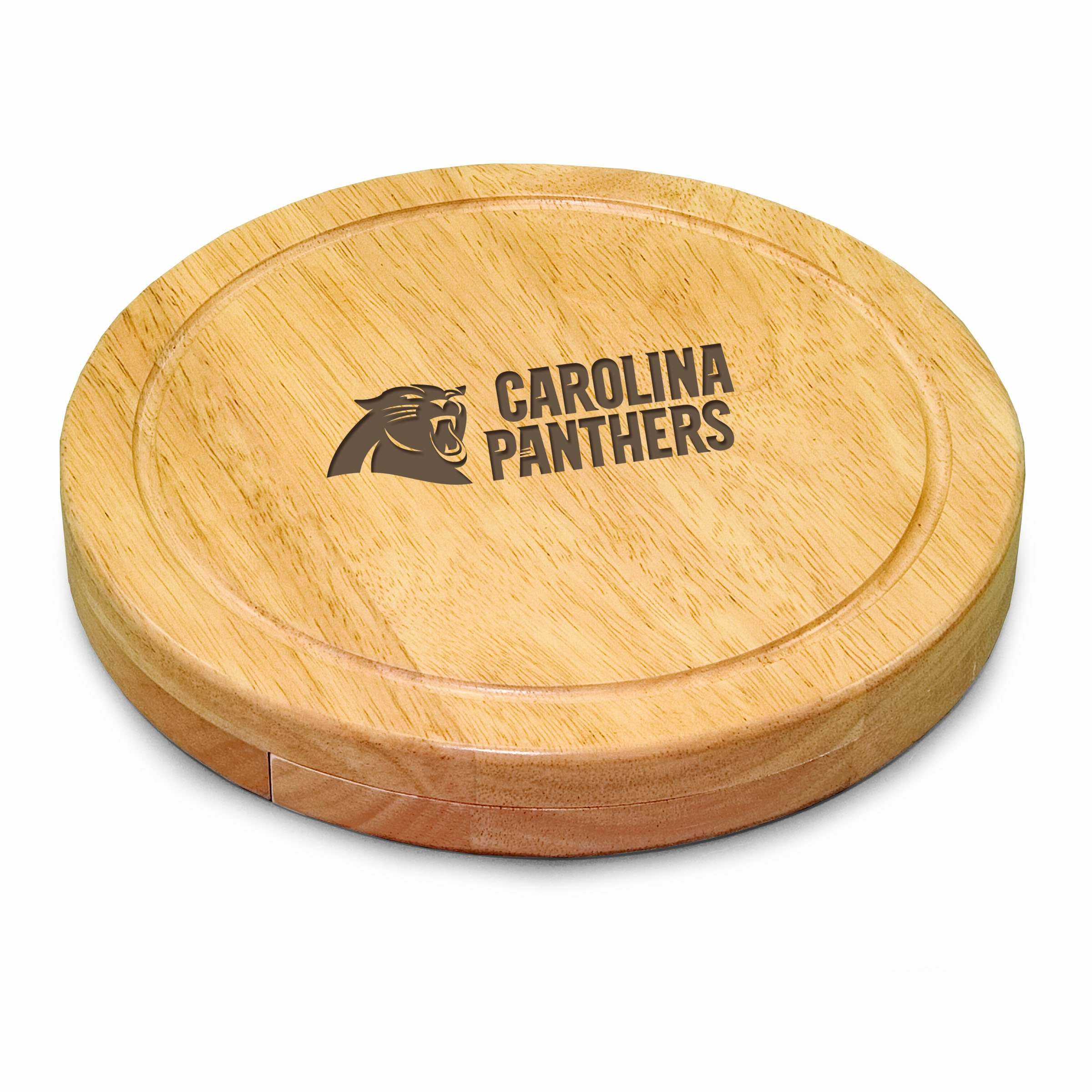 PICNIC TIME NFL Carolina Panthers Circo Cheese Board/Tool Set, 10-Inch by PICNIC TIME