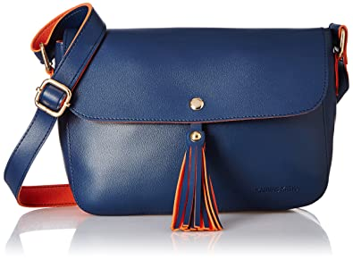 Kanvas Katha Women s Sling Bag (Navy Blue) (KKCAM002)  Amazon.in ... 9d7203cab