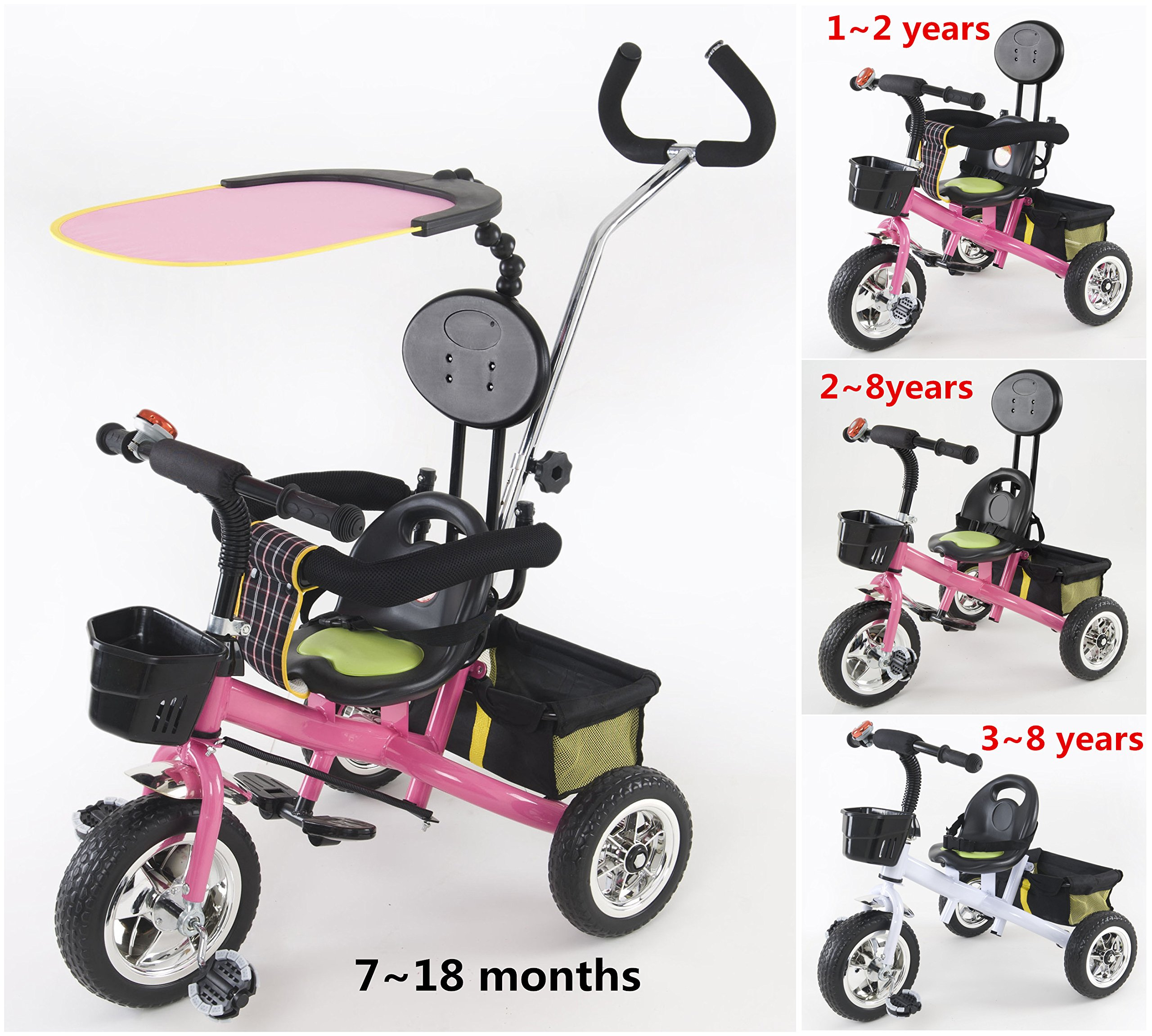 HotOne 023AK 4 In 1 Baby Children Detachable stroller Trike Classic Kids tricycle: Grows with your child(Blue) by Hotone (Image #2)