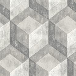 Brewster Home Bauhaus Weathered Wood Peel and Stick Wallpaper