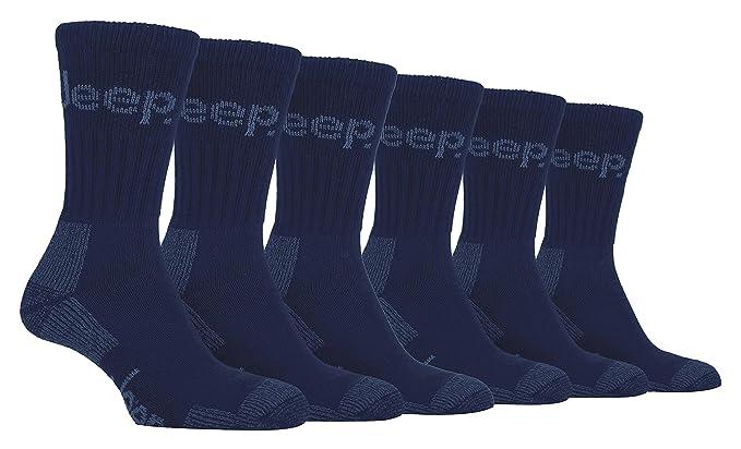 Jeep Terrain - 6 pares calcetines trabajo hombre senderismo invierno gruesos 39-45 eur (