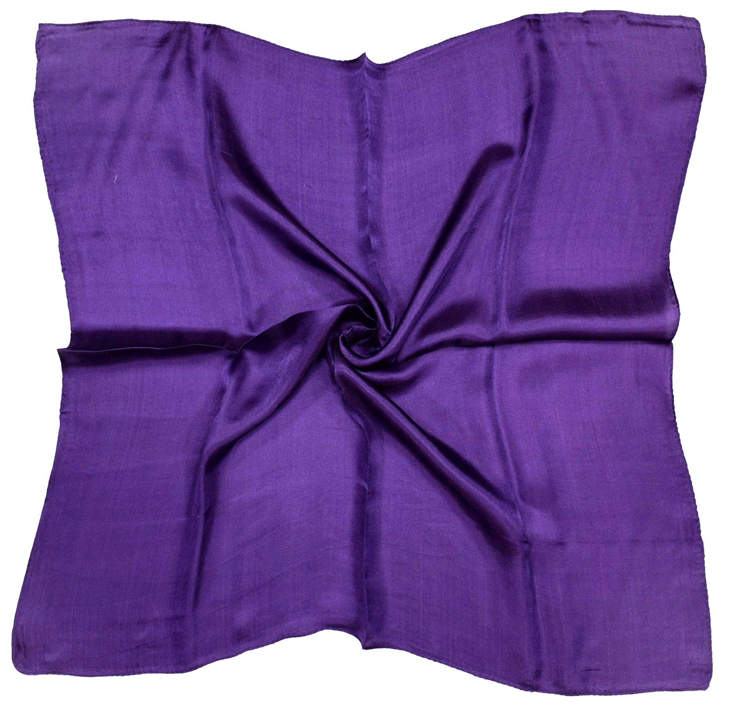 Deep Purple Small Fine Silk Square Scarf by Bees Knees Fashion (Image #1)