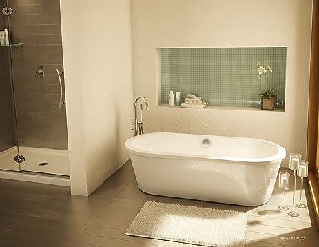 Fleurco Aria TRANQUILITY Petite 60u0026quot; X 32u0026quot; X 20u0026quot; Freestanding  Acrylic Soaking White