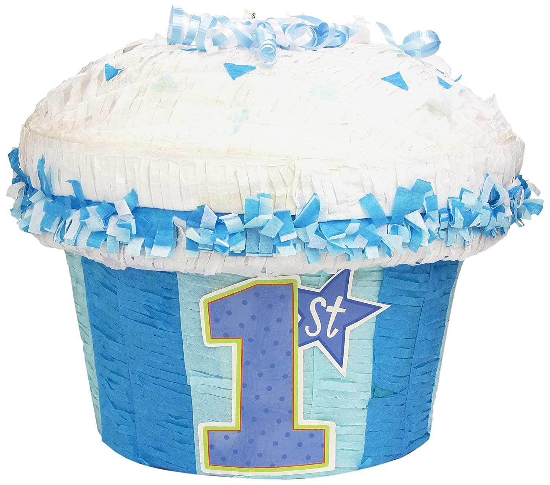 1st Birthday Blue Cupcake Pinata   B002E30FGA