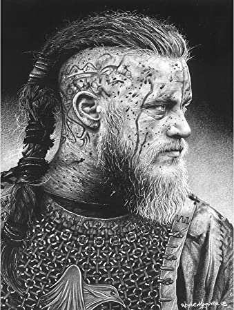 Amazon.com: Ragnar Vikings Warrior Wayne Maguire Large Wall Art Poster  Print Thick Paper 18X24 Inch: Posters & Prints