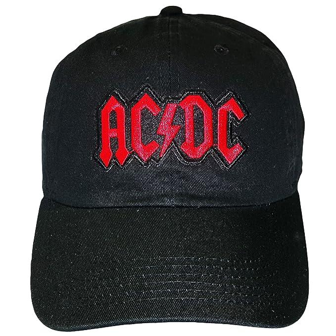 4214ba818ecca Black AC DC Adjustable Dad Hat Strapback Patch at Amazon Men s ...