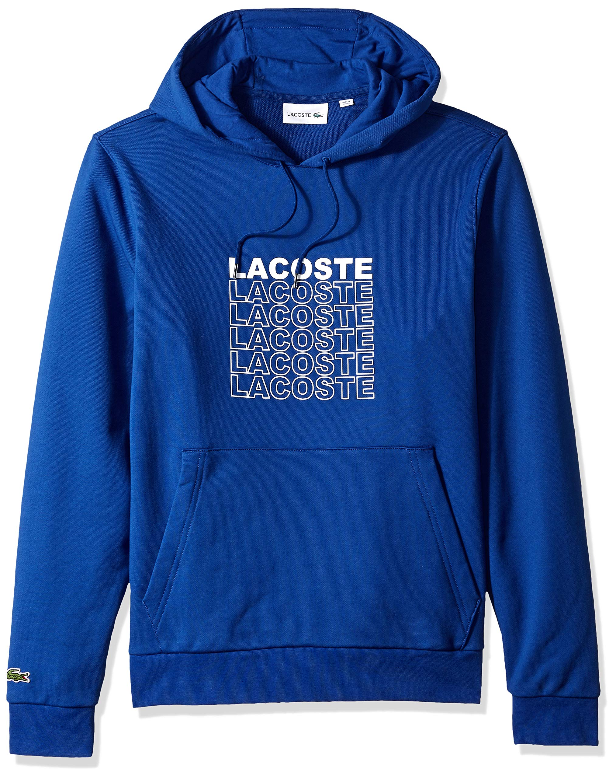 Lacoste Men's Long Sleeve French Terry Graphic Sweater, Captain, X-Large