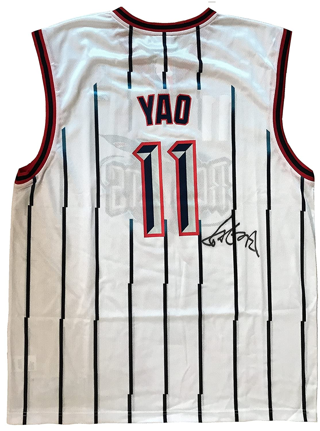 ... Yao Ming AutographedSigned Replica Reebok NBA Houston Rockets Rookie  Jersey at Amazons Sports Collectibles Store Steve Francis 3 ... 00731f45a