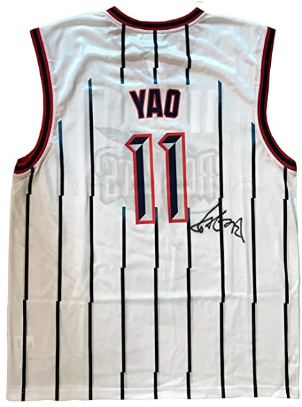... ireland yao ming autographed signed replica reebok nba houston rockets  rookie jersey 0c772 5572d f7ef67708