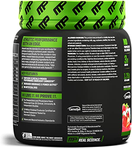 Muscle Pharm Assault Sport 30 Serve 345g, Strawberry Ice, 0.76 Pound