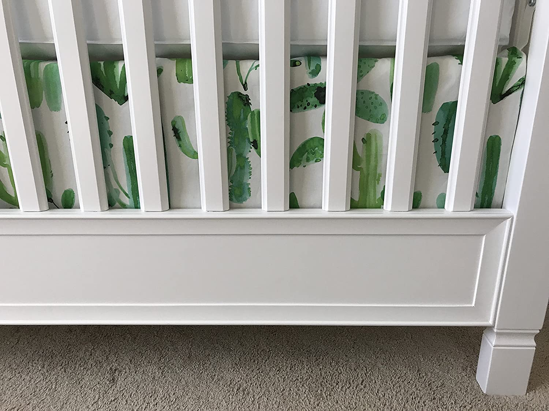 Crib Skirt - Watercolor Cactus