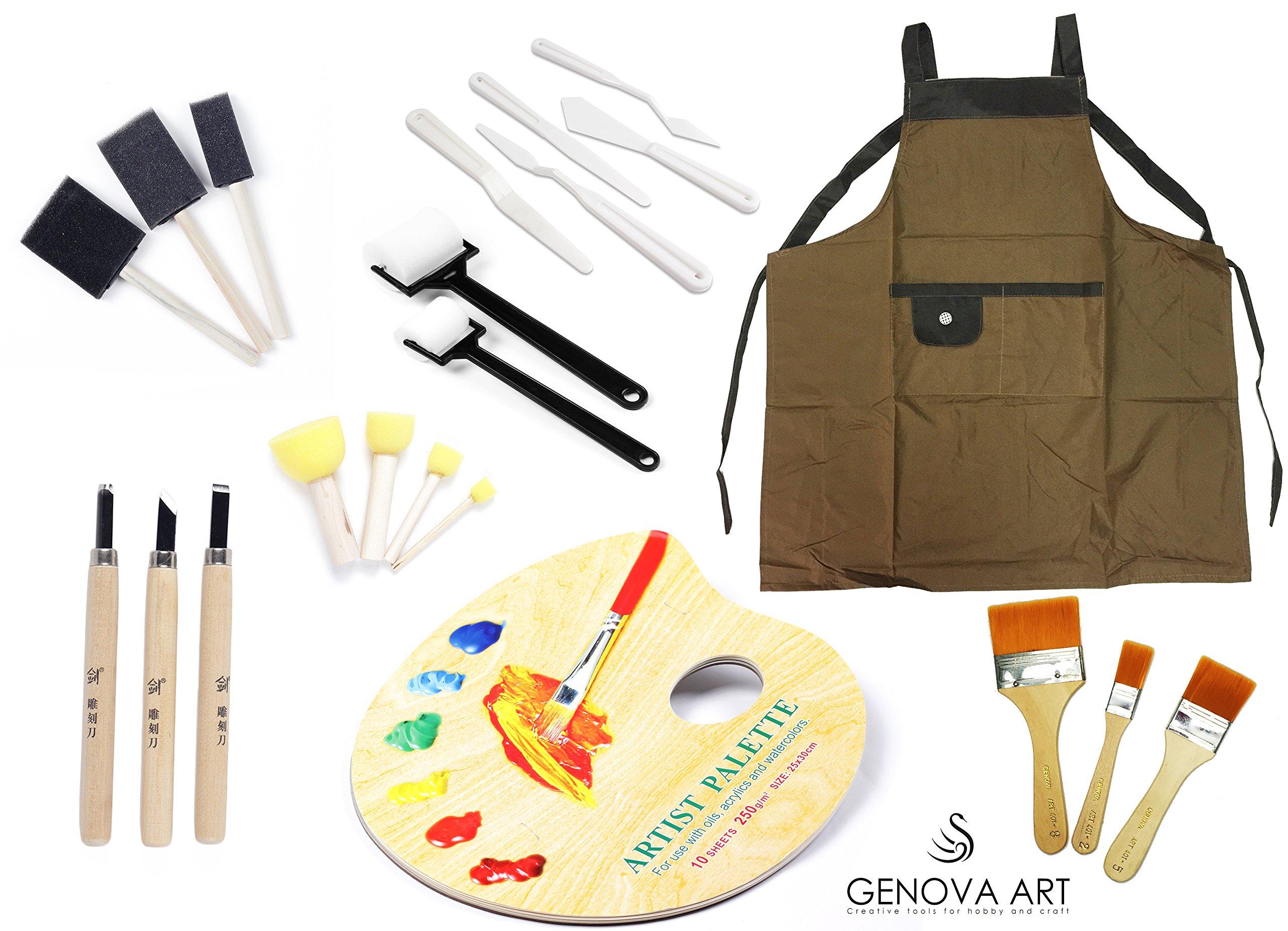 Genova Art Brush Set DIY Paint Kit
