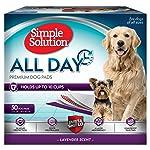 Simple Solution - Almohadillas para Orejas perfumadas para Perros, 6 Capas, absorben hasta 10 Tazas de líquido, May Vary...