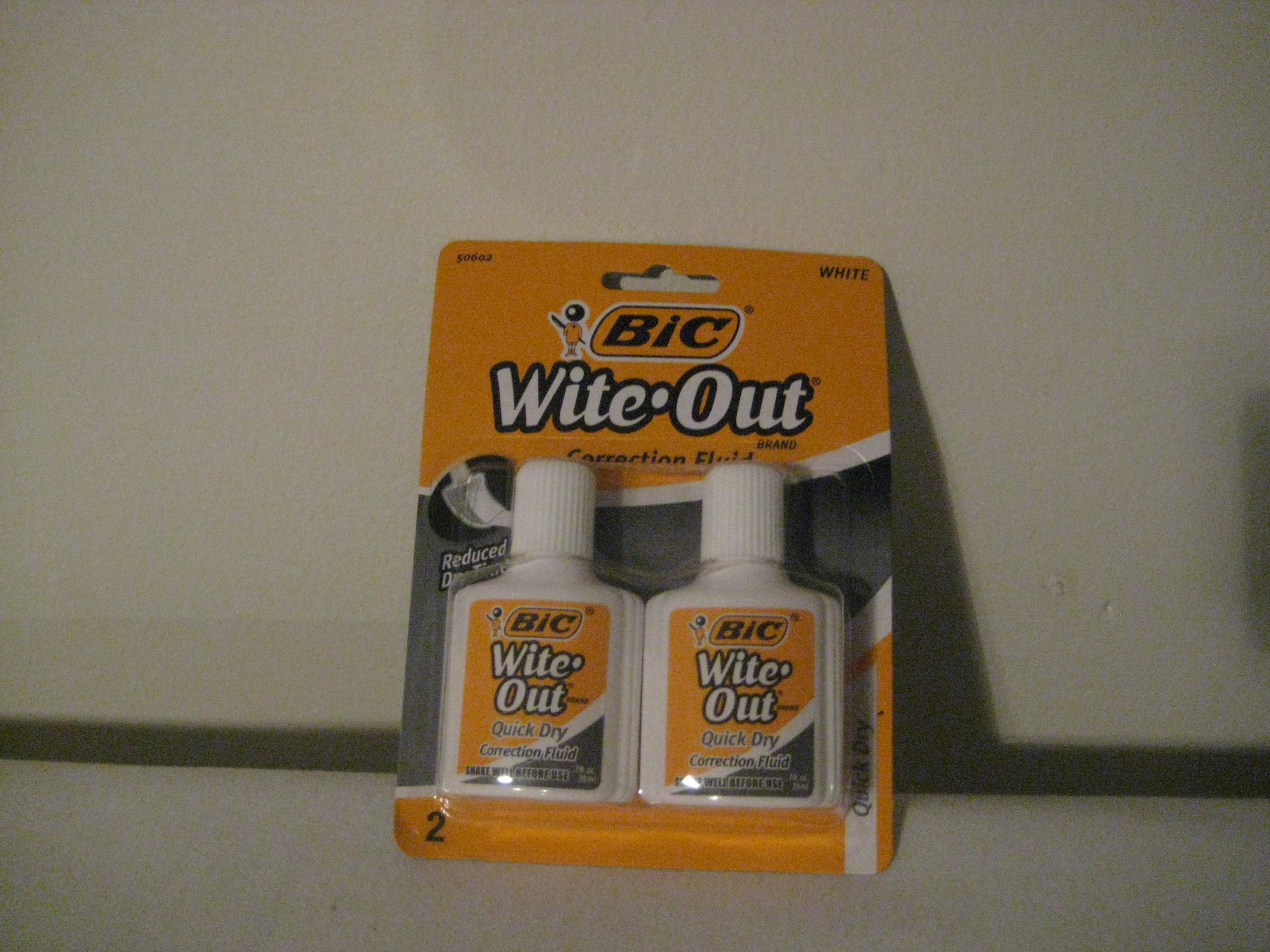 Bic White Out Correction Fluid .7 fl per 2 Bottles per pk (Pack of 30)