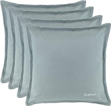 Brandsseller Outdoor Kissen Dekokissen Schmutz und Wasserabweisend mit Reißverschluss 2 cm Steg 350 gr. Füllung Größe: 48 x 48 cm Farbe: