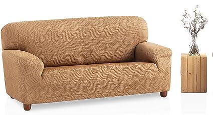 Bartali Funda de sofá elástica Aitana - Color beige -Tamaño 1 plaza (de 50 a 90 cm).