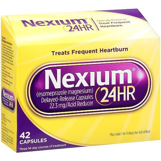 降低胃酸分泌,Nexium 24HR 胶囊