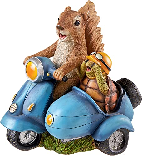 Design Toscano Born to Be Wild Squirrel On Motorcycle Statue