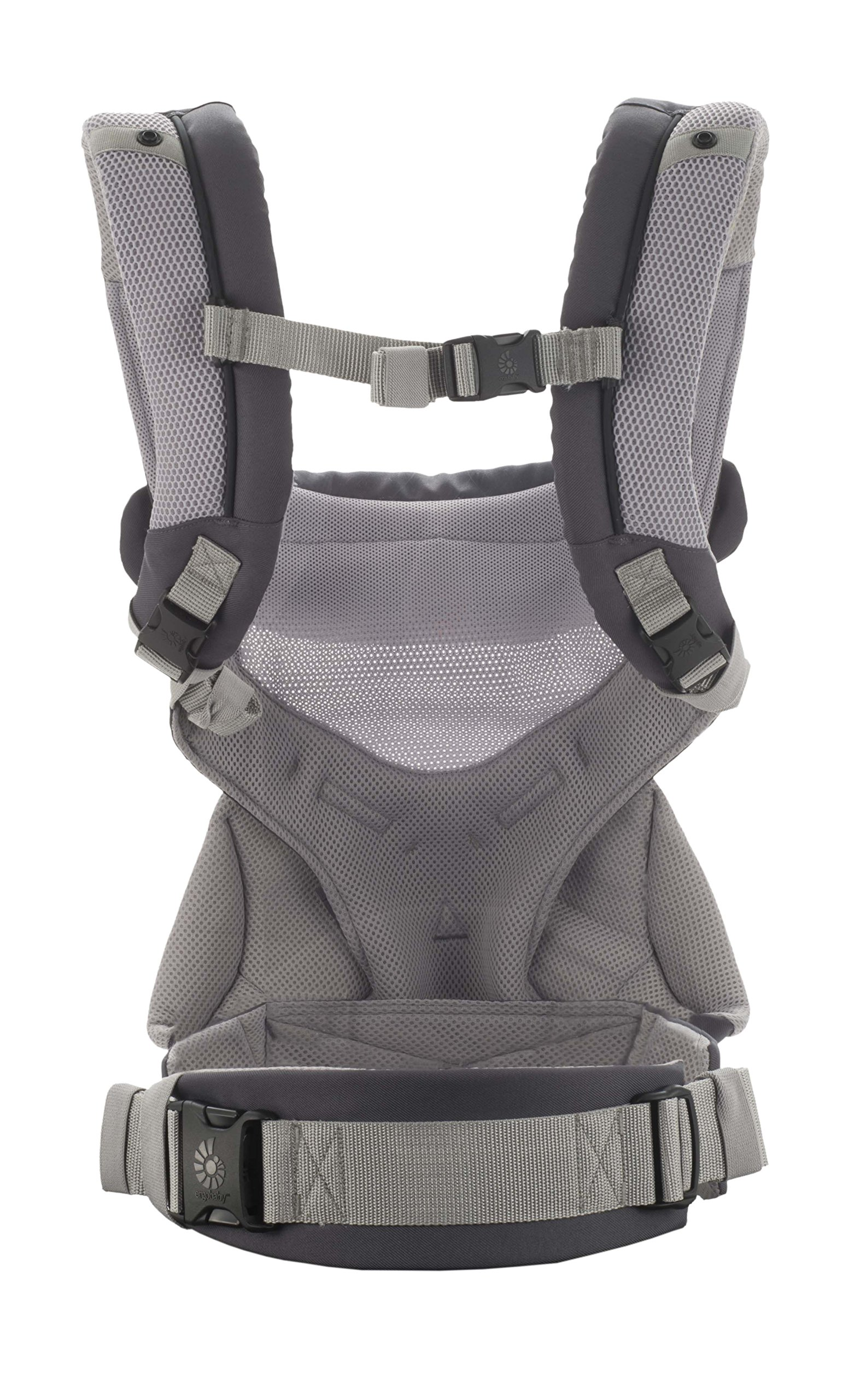 Ergobaby Carrier, 360 All Carry Positions Baby Carrier with Cool Air Mesh, Carbon Grey by Ergobaby (Image #2)