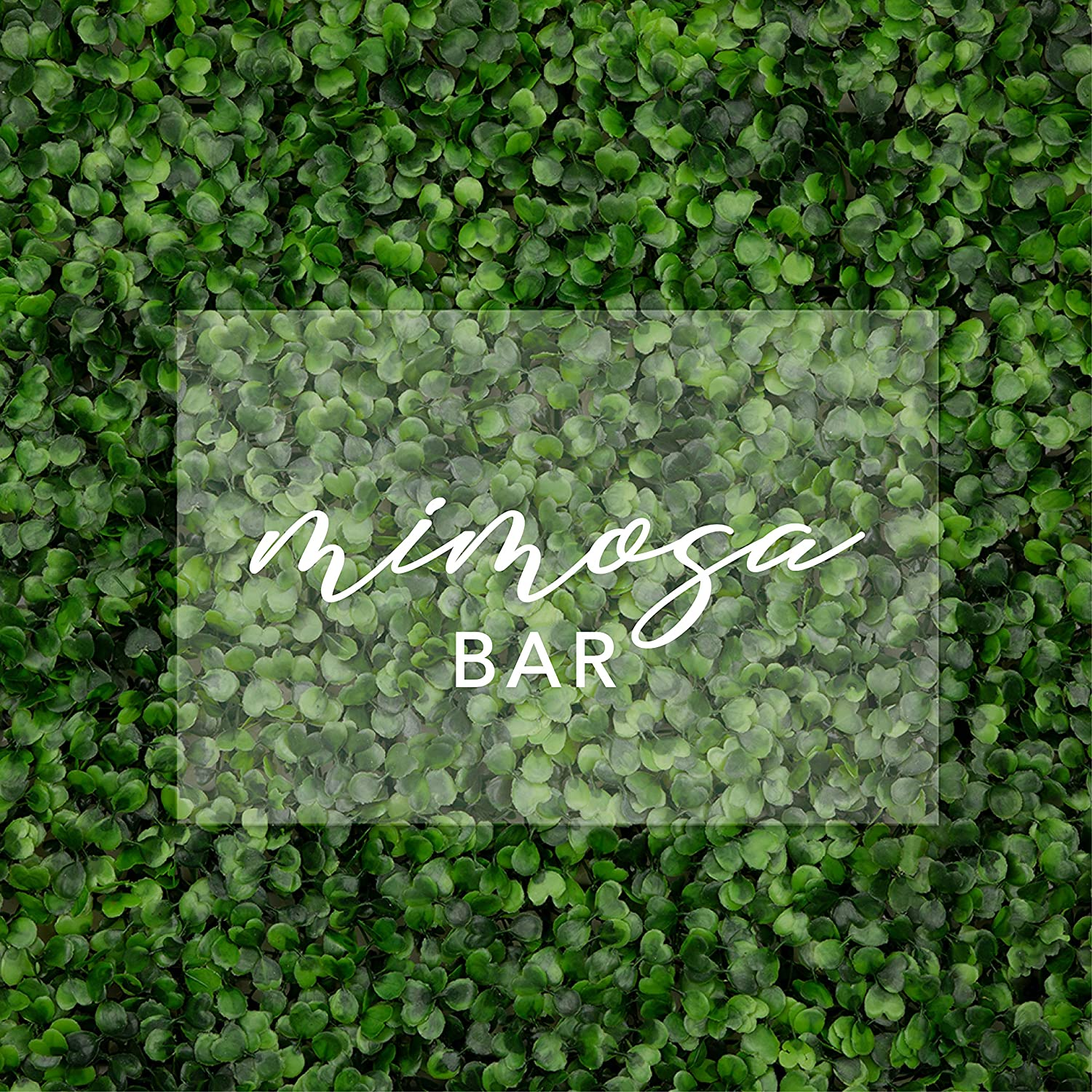 Andaz Press Mimosa Bar Acrylic Sign, 7.5 x 11 Inch Horizontal, Stand Included, Signage for Wedding, Bridal Shower, Bachelorette, Engagement, Birthday, Graduation, Holiday, Events, Bar, Bar Cart