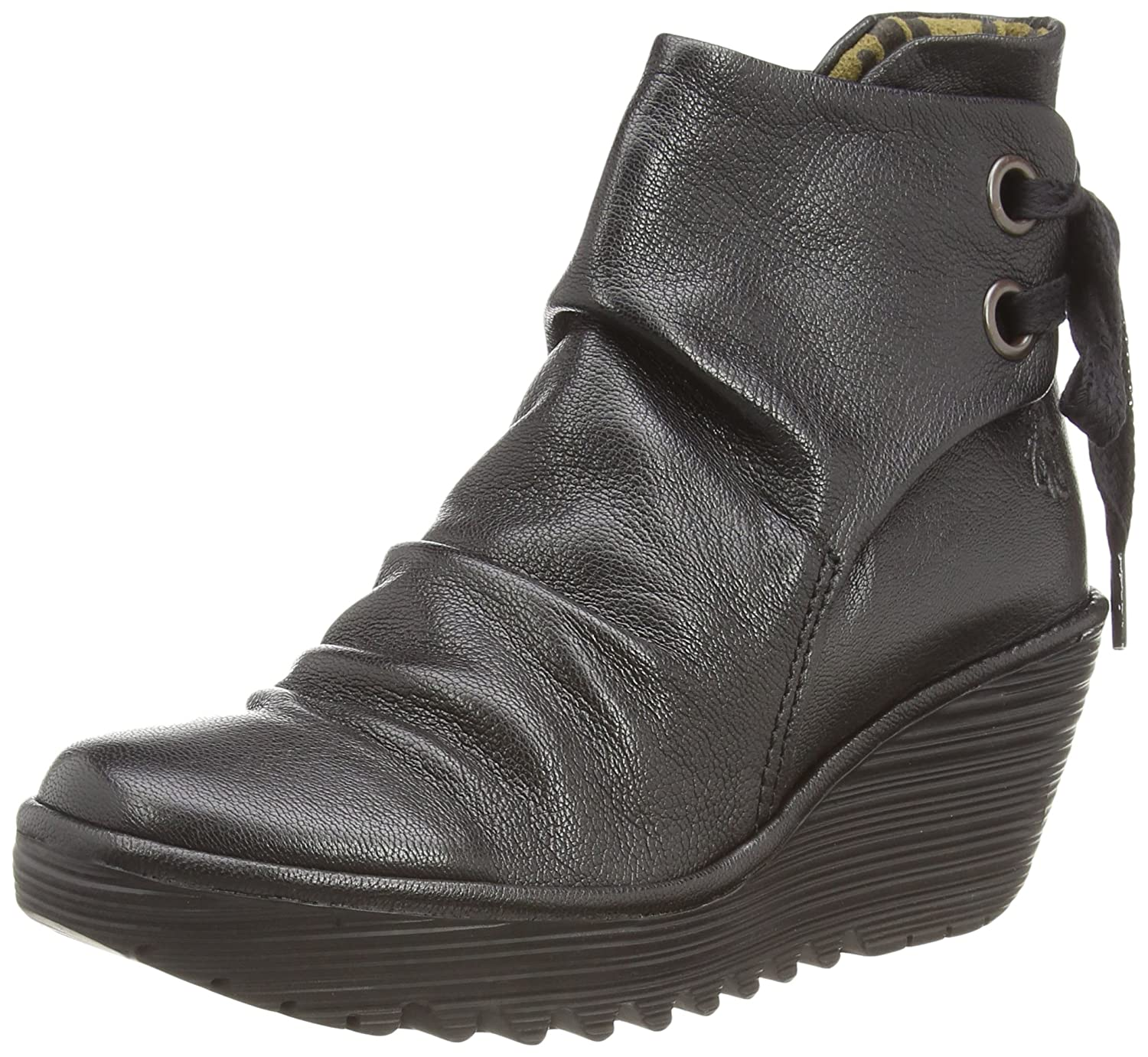 FLY London Women's Yama Ankle Boot B00WU0CSJE 40 EU/9 - 9.5 M US|Black Mousse