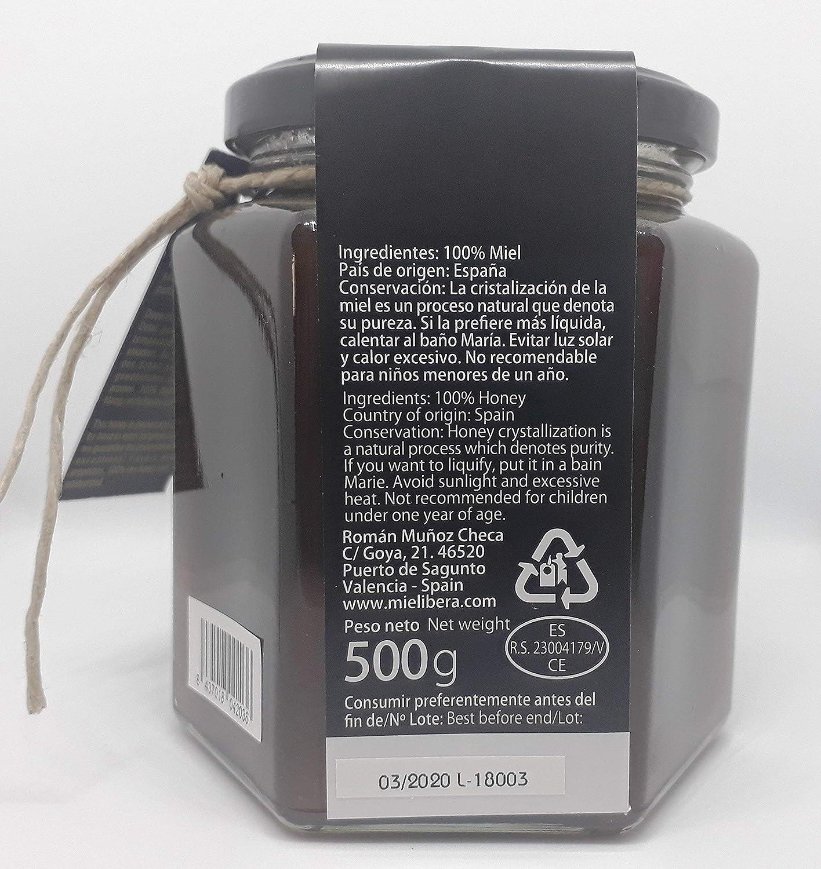 Miel de Brezo cruda de España, artesanal, no mezclada, sin pasteurizar 500 gr: Amazon.es: Alimentación y bebidas