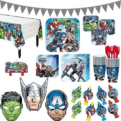 Amazon.com: Avengers Superhero - Kit de fiesta de cumpleaños ...