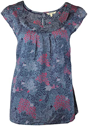 202d4c7dcf4152 Ex White Stuff Ladies Womens Grey Blue Swallow Bird Print Shell Top Blouse  pink (12): Amazon.co.uk: Clothing