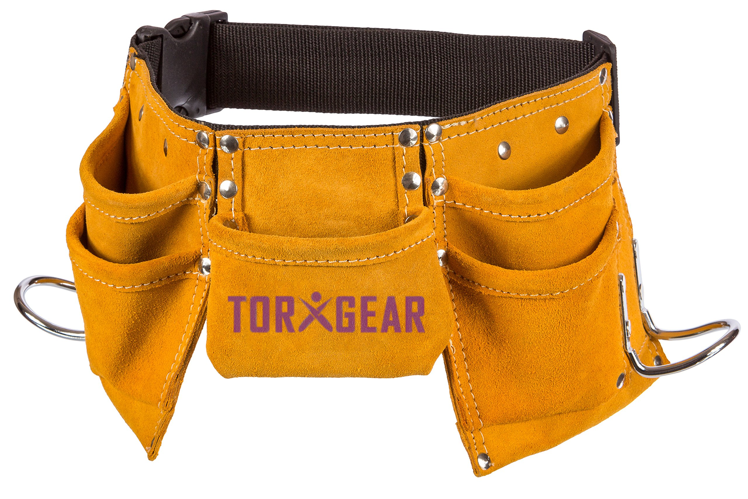Childs Leather Tool Belt - Suede Leather Working Tool Pouch for Youth Dress  Up and Costume 07f8ccfcf9f76