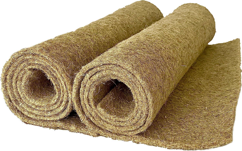 Alfombra para roedores hecha de 100% de cáñamo,120 x 50 cm, 5 mm de de espesor, paquet de 2 (EUR 8,75/pieza), alfombra para roedores adecuada como revestimiento de piso en jaula, p. para conejos, cone