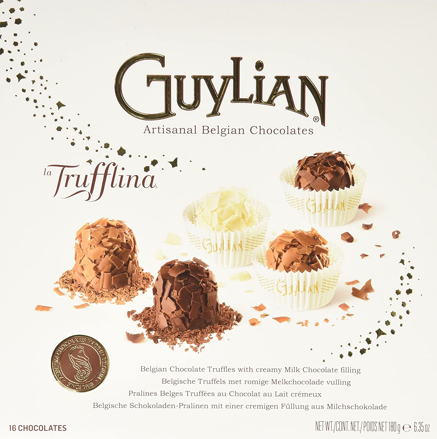 Amazon.com : Guylian Choc La Trufflina Gftbx 6.35 oz : Chocolate ...