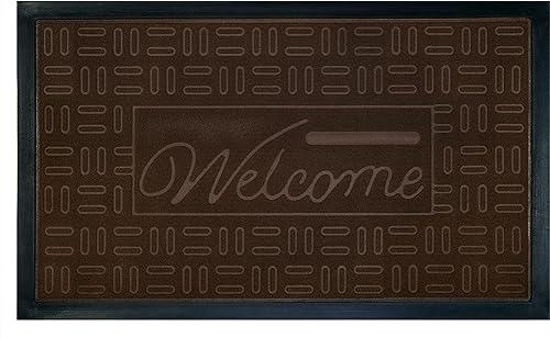 Achim Home Furnishings Welcome Mat, Parquet, Coffee