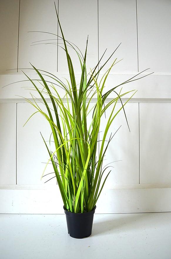 Gräser Topf Gras Deko Grün Zimmerpflanze Grasbüschel Pflanze 40cm Tischdeko Deko Dekoblume Blume künstlich Kunstpflanze Fensterdeko Deko für Bad