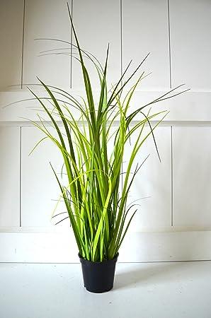 Gräser Topf Gras Deko Grün Zimmerpflanze Grasbüschel Pflanze 40cm Tischdeko  Deko Dekoblume Blume künstlich Kunstpflanze Fensterdeko Deko für Bad ...