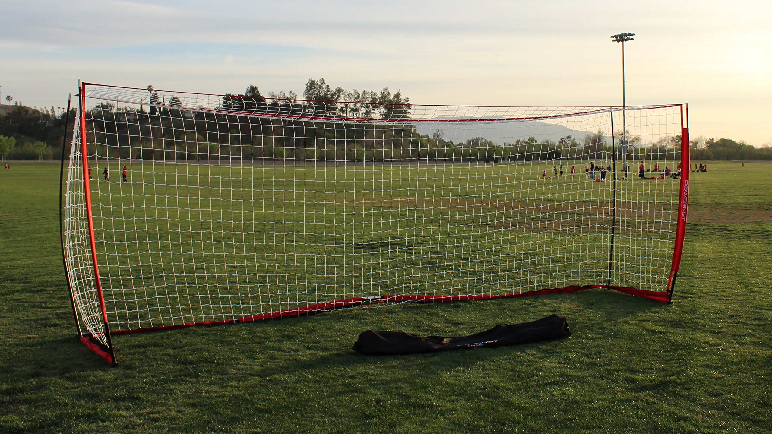 PowerNet Soccer Goal 18.5ft x 6.5ft Portable Bow Style Net